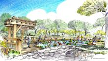Rendering shows new boardwalk to be constructed around Wonder Pond at The Morton Arboretum